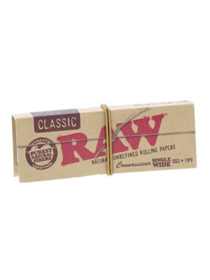 Raw Classic Connoisseur Single Wide With Tips