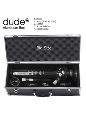 Dude Glasbong In Aluminium Box - 42 Cm