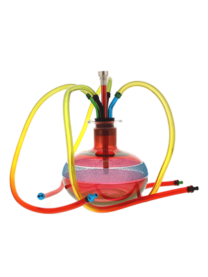 Party Hookah - Glass Water Pipe With 4 Hoses